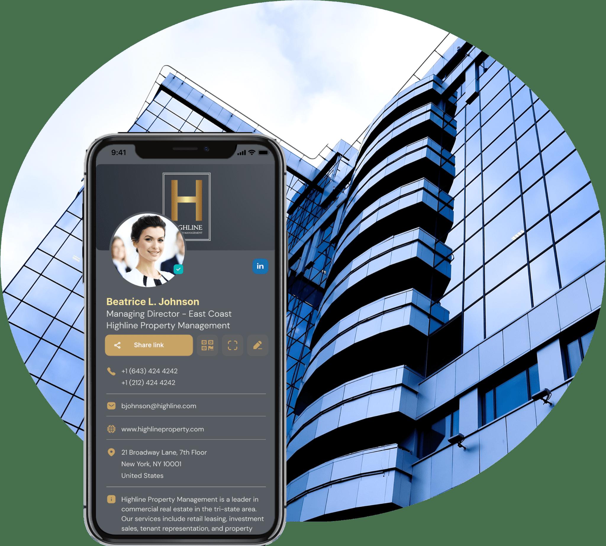 real estate digital business card
